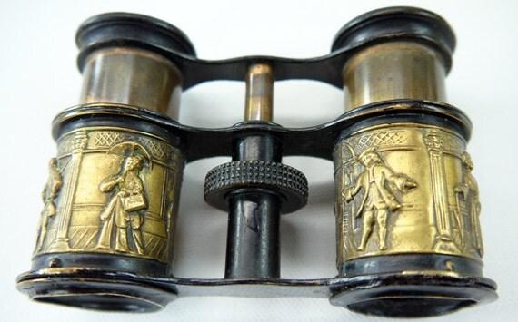 Antique Repousse Opera Glasses 1900s Victorian