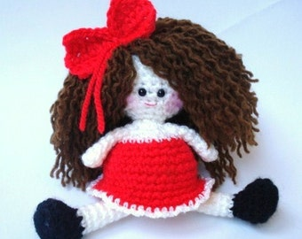 Pattern, Amigurumi Doll Pattern, Amigurumi Girl Pattern, Crochet doll pattern - Tutorial - INSTANT DOWNLOAD