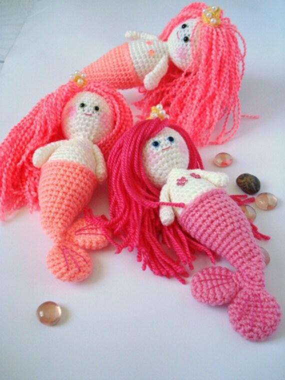 Amigurumi Girl Tutorial : Crochet Pattern, Amigurumi Pattern, Mermaid Girl, PDF ...