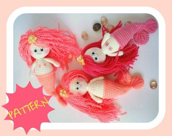 Pattern, Amigurumi Pattern, Mermaid Girl, PDF Amigurumi, Crochet Pattern, Tutorial, INSTANT DOWNLOAD