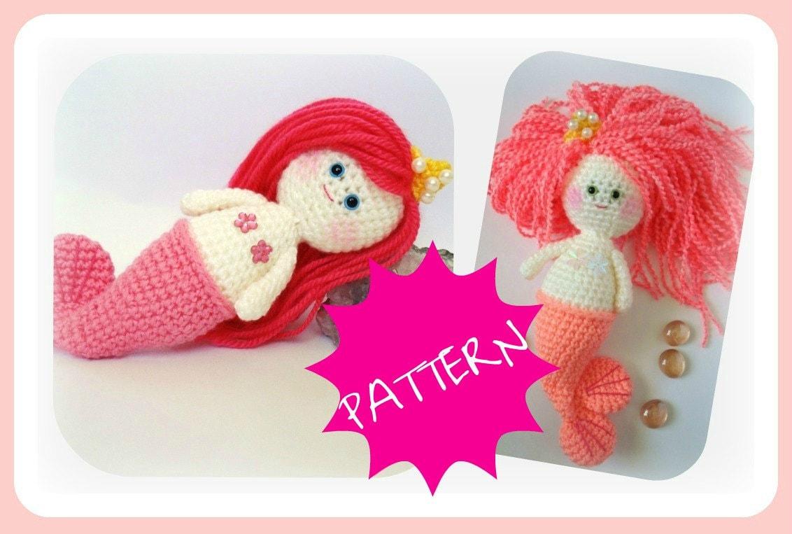 Free Amigurumi Mermaid Patterns : Crochet Mermaid Girl PDF Amigurumi Crochet Pattern