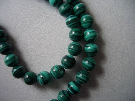 Malachite beads 6mm, round beads, one strand, synthetic green Malachite beads, 6mm synthetic gemstone beads, 6mm beads, gemstone beads