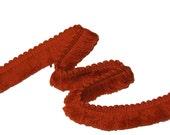 Cinnamon Fabric Trim - Retro 70's Sewing Brush Fringe Fabric Trim