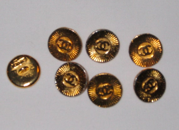 Chanel Buttons Total of Seven Buttons Chanel Button Coco Chanel