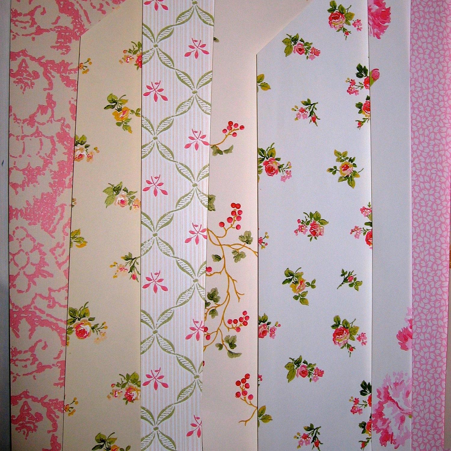 Laura Ashley Wallpaper Craft Projects 11 Sample Sheets Pink