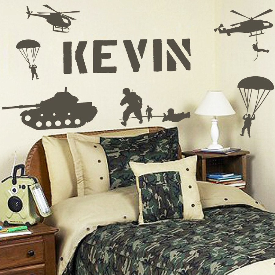 Personalized Name And Military Army Soldiers By