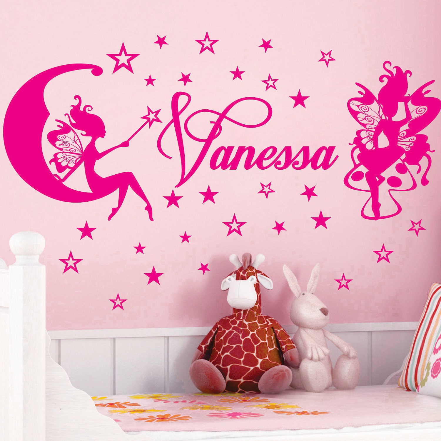 fairy stars name personal vinyl wall decals saying quote art