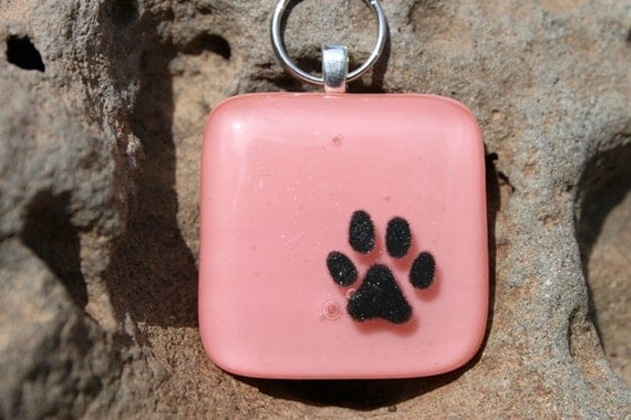 Paw Print Design Customize-able Pet ID TAG
