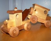 Old Timie toy tow truck & delivery van, handcrafted