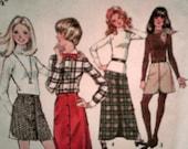 1972 Simplicity Skirts - Long and Short - Printed Sewing Pattern