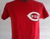 Vintage Tee - Red Cincinatti REDS Baseball Tee