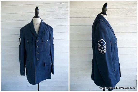 Vintage 60s 70s MILITARY Jacket - Air Force - Official United States Armed Services Jacket