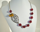 SHOP CLOSING - Ruby Red Necklace