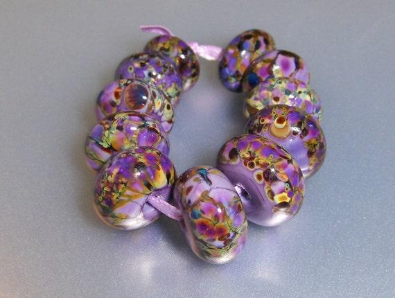 Lampwork Purple Beads (11)-Purplicious Collection