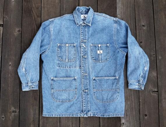 Vintage 90's Oversized Calvin Klein Denim Jacket (mens M / women's L / XL)