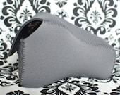 DSLR Camera Case - Charcoal Grey / black neoprene
