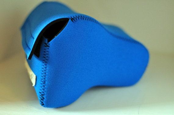 DSLR Camera Case - Sea blue / black neoprene