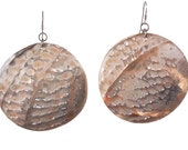 Abalone Shell and Sterling French Earwire Earrings - IRIDESCENCE - Free US shipping