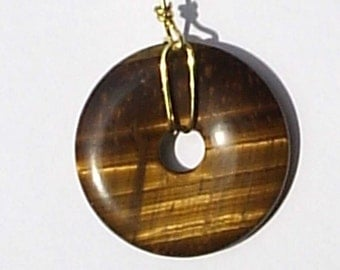Genuine Tiger Eye Fan Pull Light Chain Natural Stone