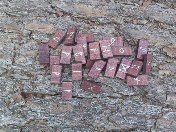 Black Cherry Poplar Rune set - Elder Futhark