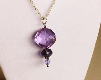 Color Changing Crystal Necklace - Phenomenal Color Changing Crystals Hanging on a Silver Toned Chain