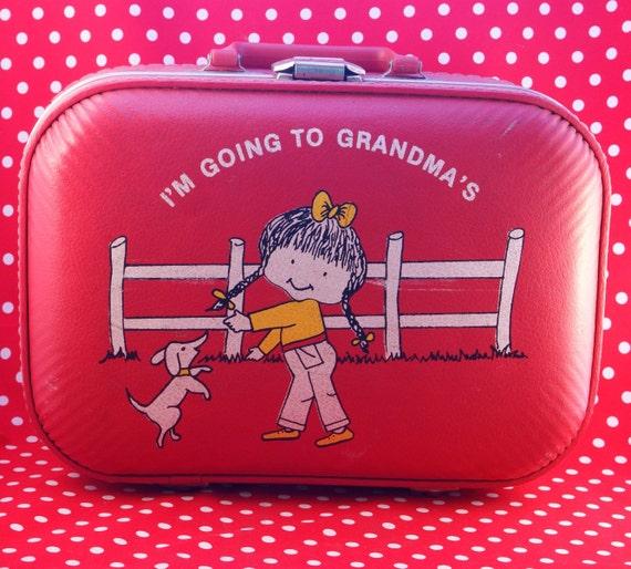Vintage Children's Suitcase-Going to Grandma's