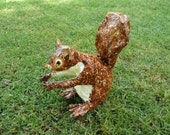 Brown Garden Squirrel - Original Paper Sculpture