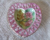 Heart Dish 1968 Roses