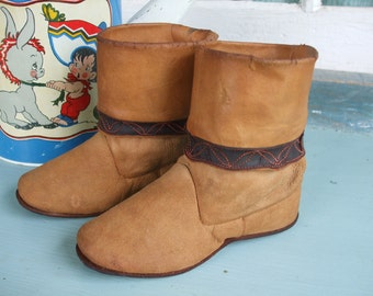 Child's Leather Cowboy Boots