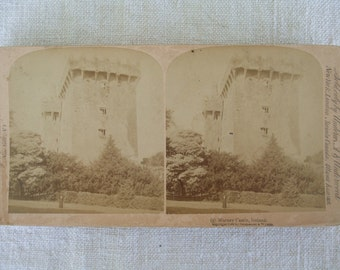 Blarney Castle Ireland 5 Stereoscope Card 1896 Strohmeyer and Wyman New York Underwood and Underwood