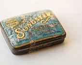 European Antique Tin Songster Needles Vintage Europe