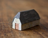 danish barn sculpture -  cottage style rustic clay house farmhouse