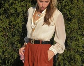 ON HOLD For shatzie1916-Vintage Orange, Rust Color High Waist Pants