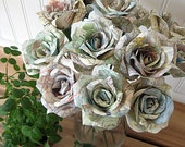 One Dozen Map Roses, Made to Order