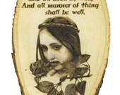 Personalized Woodburned Plaque - Small Oval