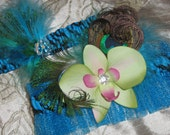 Wedding Garters, Prom Garters, Turquoise Blue Garters, Zebra Garters, Sparkle Tulle Garter, Teal Blue Garter, Orchid Garter, Peacock Garter