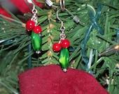 Christmas Holly Berry Earrings (C1002E)