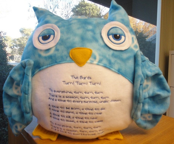 Custom Owl Pillow For Kalyne