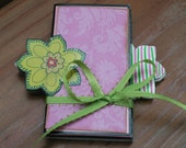 Premade Accordion Mini Scrapbook Album - upcycled from placecards