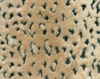 Faux Lynx Fur Fabric - 1/2 yard - Lynx Fabric