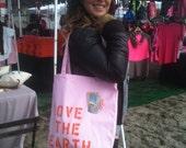 SUMMER SALE Reusable Cotton Bag: Love The Earth