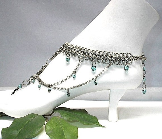 Slave Anklet Warrior Princess Chain Maille Beads