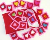 "Memory Game- ""Rainbow Hearts"""