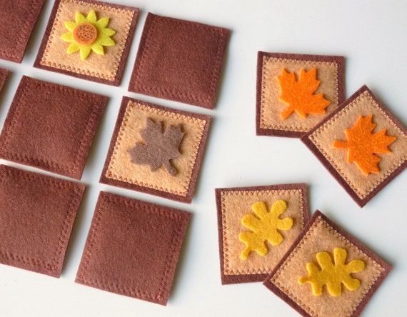"Mini Memory Game- ""Leaves of Autumn"""