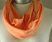 Orange Cream Infinity Scarf