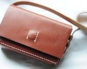 Artemis Leatherware Hand Stitched Dark Brown Leather Camera Case