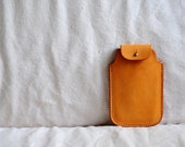 Artemis Leatherware Hand Stitched Light Brown Leather Iphone Case (SUMMER SALE)