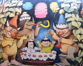 Maurice Sendak  Print - Happy Birthday - Vintage - Poster on Heavy Stock