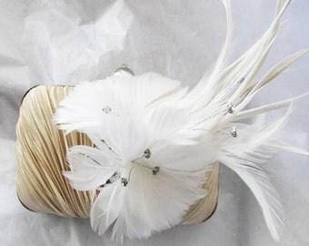 Rhinestone  Accent Satin Fabric Wedding Bag Clutch Formal Wear