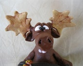 Moose Polymer Clay Sculpture